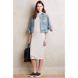 Anthropologie Dolan White Jules Striped Midi Dress
